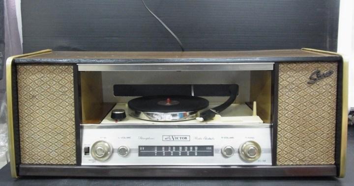 ビクター 真空管ステレオ STL-160 AMラジオ レコード 中古品