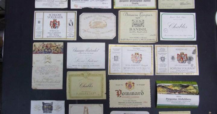 年代物 ワイン ラベル 34枚セット 中古品