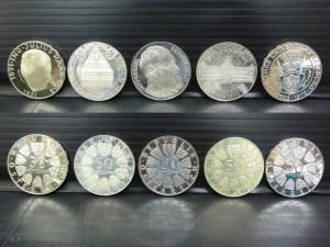 オーストリア 50シリング 銀貨 5枚セット 中古品