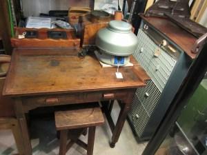 木製机 古道具