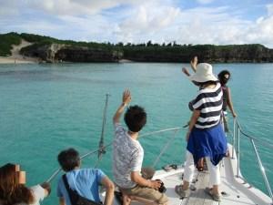宮古島の海での貸切散骨
