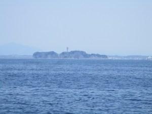 江の島沖での散骨