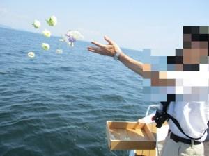 神奈川県の海での散骨