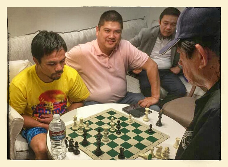 Pacman playing Chess w/ Master Ted Castro