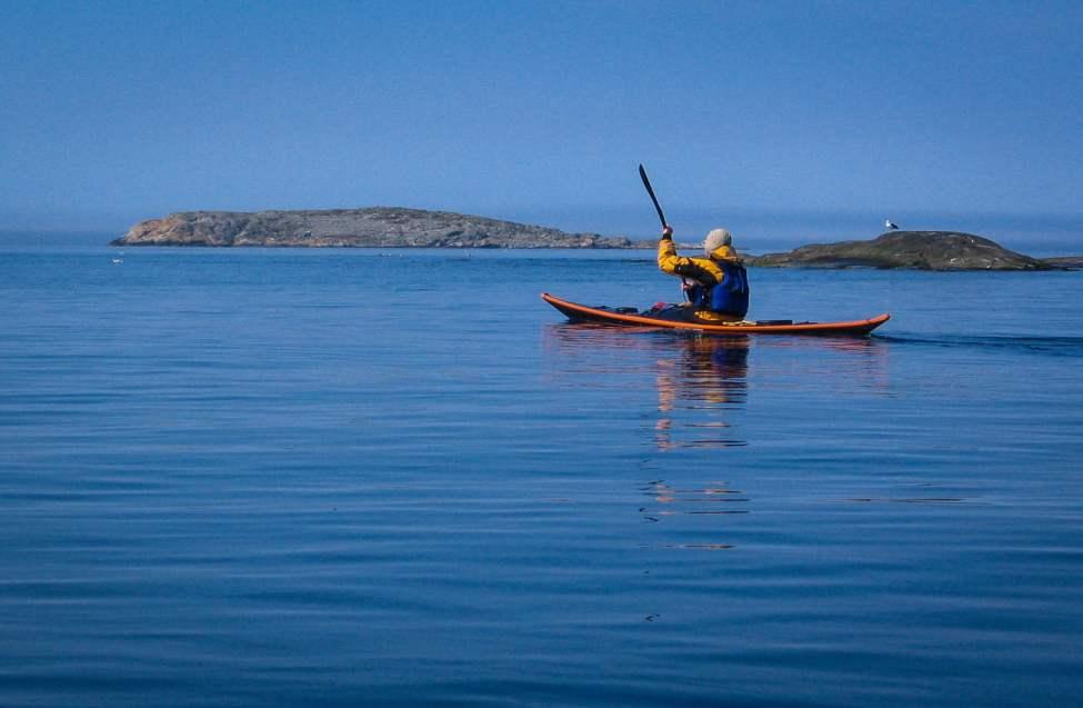 Nils i Qaanaaq på väg mot Tistlarna