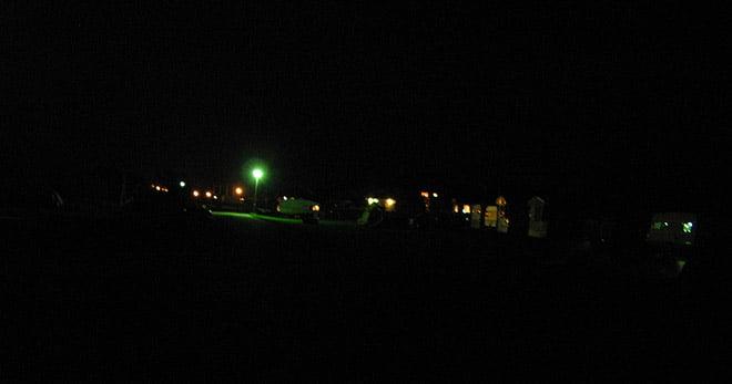 Mörkt på Stocken Camping