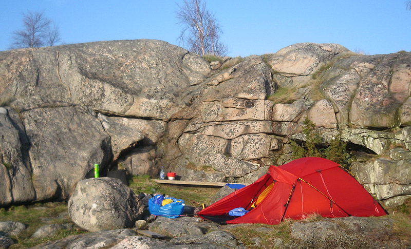 Hilleberg Jannu på Arpökalven i Blekinge