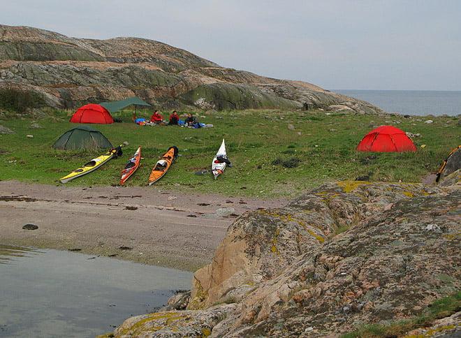 Lägerplatsen på Långeskär