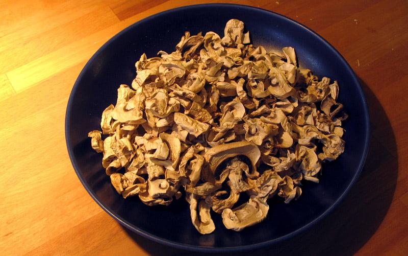 75 gram torkade champinjoner