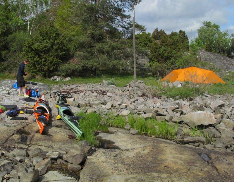 Fin lägerplats på Saltärna