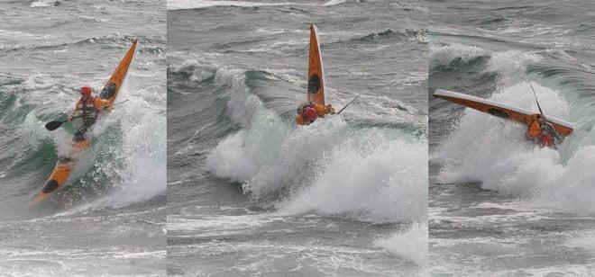 Johan leker i vågorna under Stockenträffen