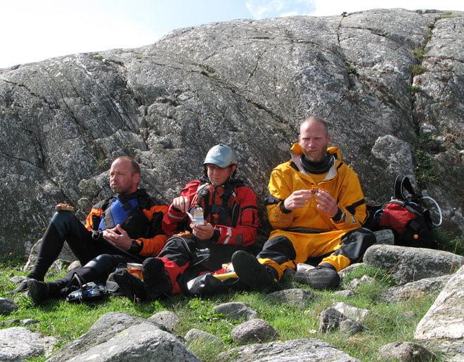 Danska fikapaddlare; Steen, Martin och Per