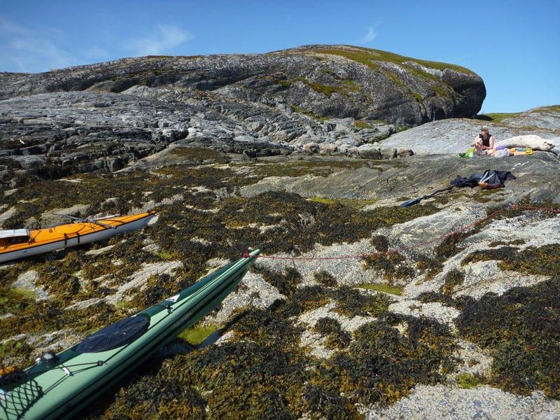 Långlunch på Heløy - en mycket fin ö.