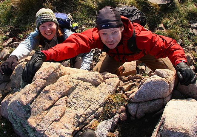 Avancerad klättring på hög höjd