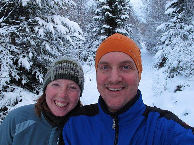 Kul att åka skidor och skönt att vara ute