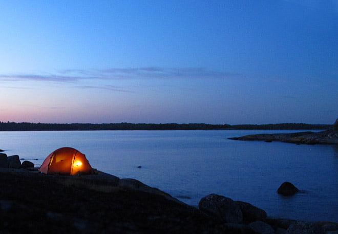 Tältet på Bockö