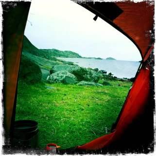 Rävholmen - en grå och lite regnig morgon
