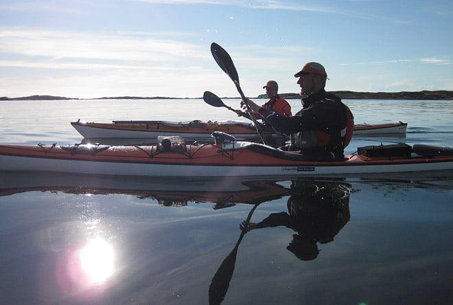 Johan och Erik i lugnt vatten