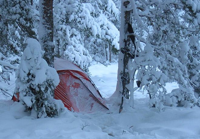 Morgon på Lilla Bergö. Har kommit lite mer snö
