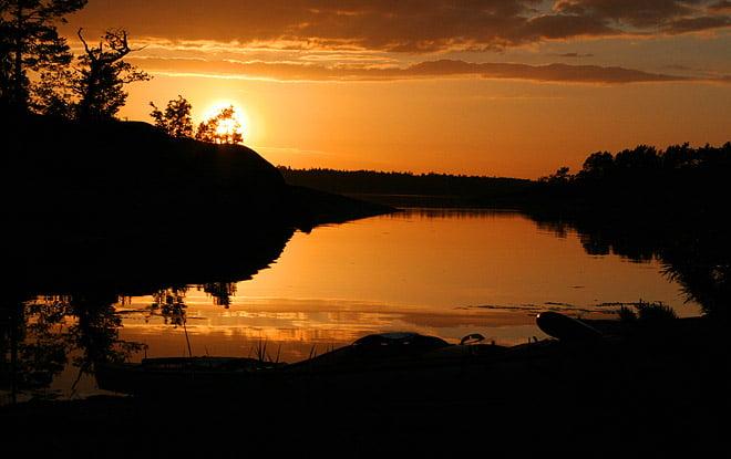 Fina solnegångar över Eknö