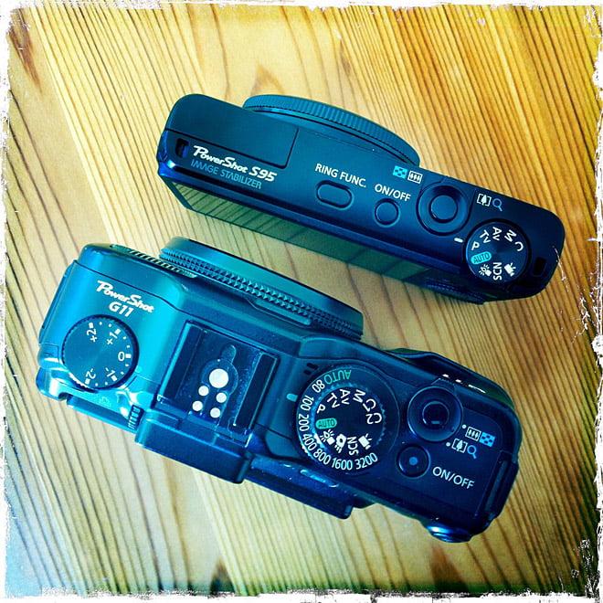 G11 och S95 uppifrån
