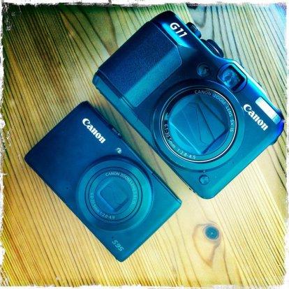 Canon Powershot S95 och Powershot G11