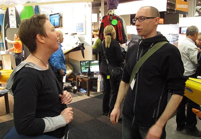 Lars Larsson berättade om sitt nya projekt. Kajaktidning tillsammans med Utemagasinet, ska bli spännande att se