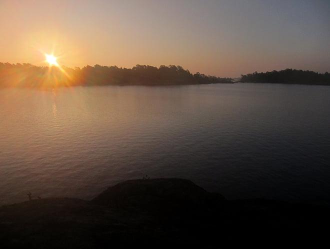 Lätt att bli betagen av fina soluppgångar :D