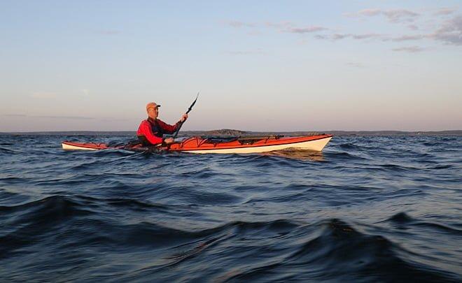 Erik paddlar söderut