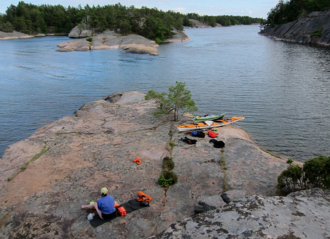Kanonfin udde på Lilla Bergö
