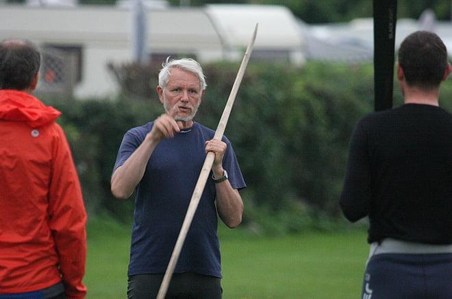 Björn Thomasson undervisar med/om grönlandspaddling