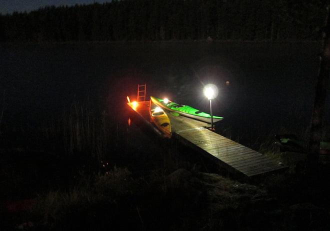 På en brygga i Flosjön