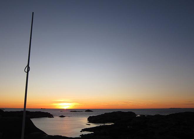 Solnedgång från Rävholmens topp