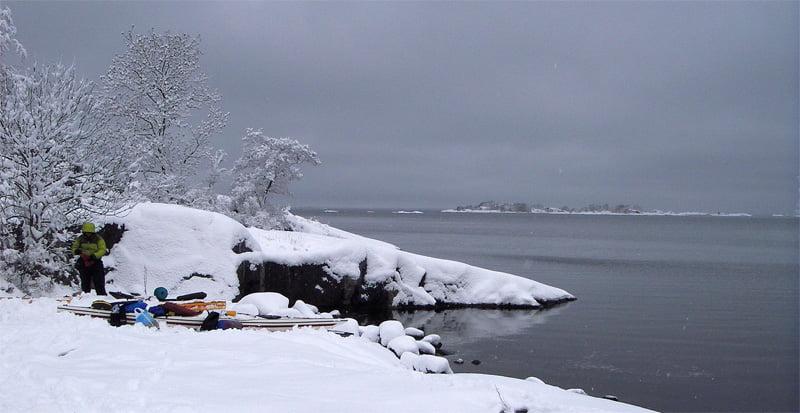 Mysigt med snöklädda öar. Foto: Göran Pehrson