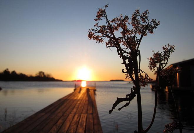 Soluppgång på Örö. FInt som tusan