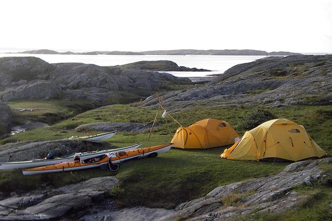 Tält på Vallerö