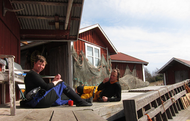 Fika och slappedax på Örö