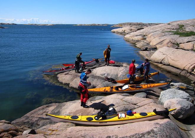 Lördagslunch ute på Gåsö, finfint.