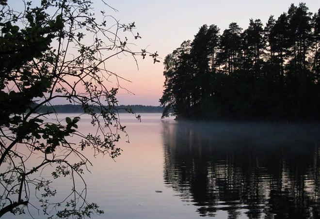 Kväll vid Rössjön