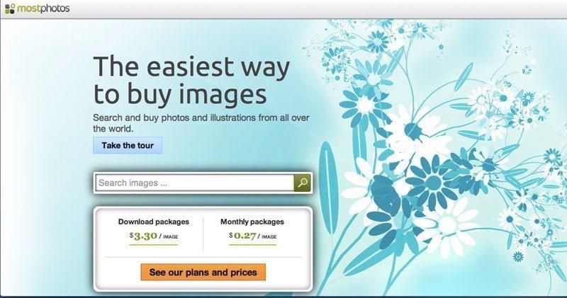 Mostphotos - tjäna pengar på dina bilder