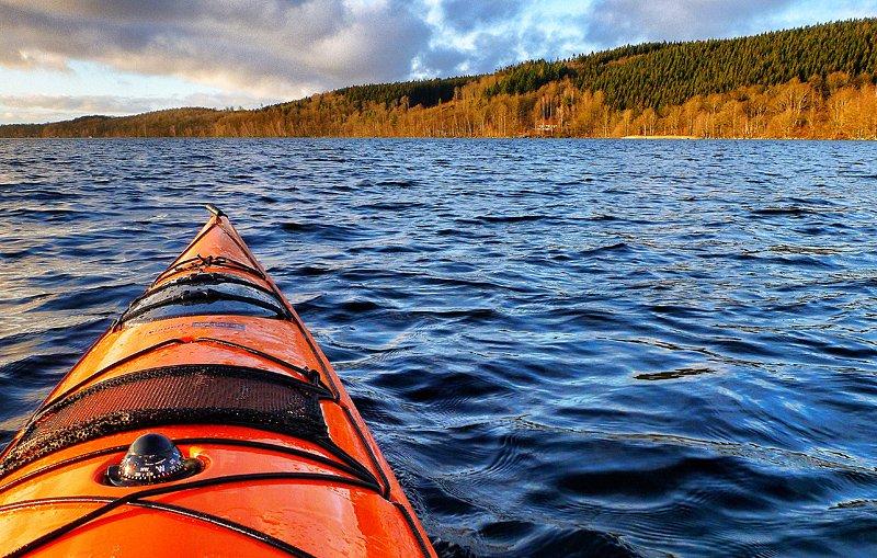 Västersjön i höstlikt januariljus 20 januari 2012