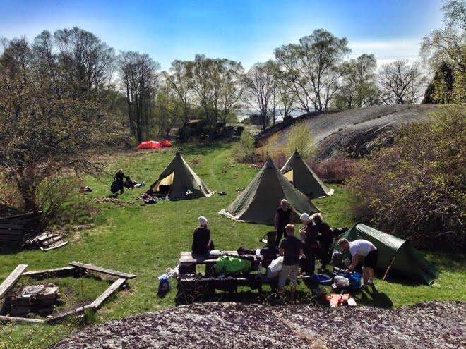 Läger på Tjärö