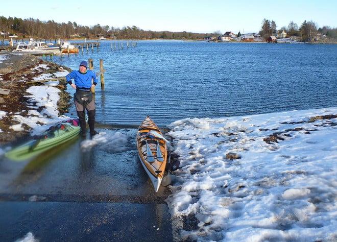 Vinter vid slipen i Matviks hamn