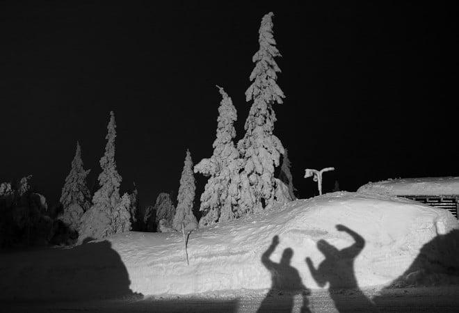Nattliga snöskuggor