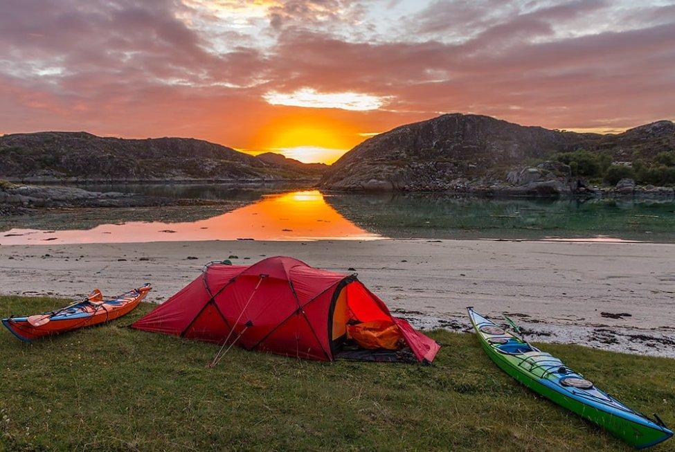 Hilleberg Tarra på Helgelandskusten