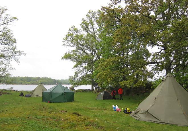 Basecamp med stortält
