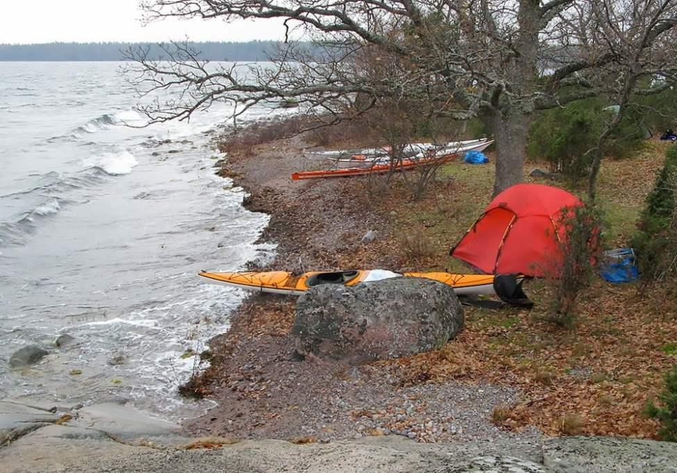 Hilleberg Allak på Snuggö i november
