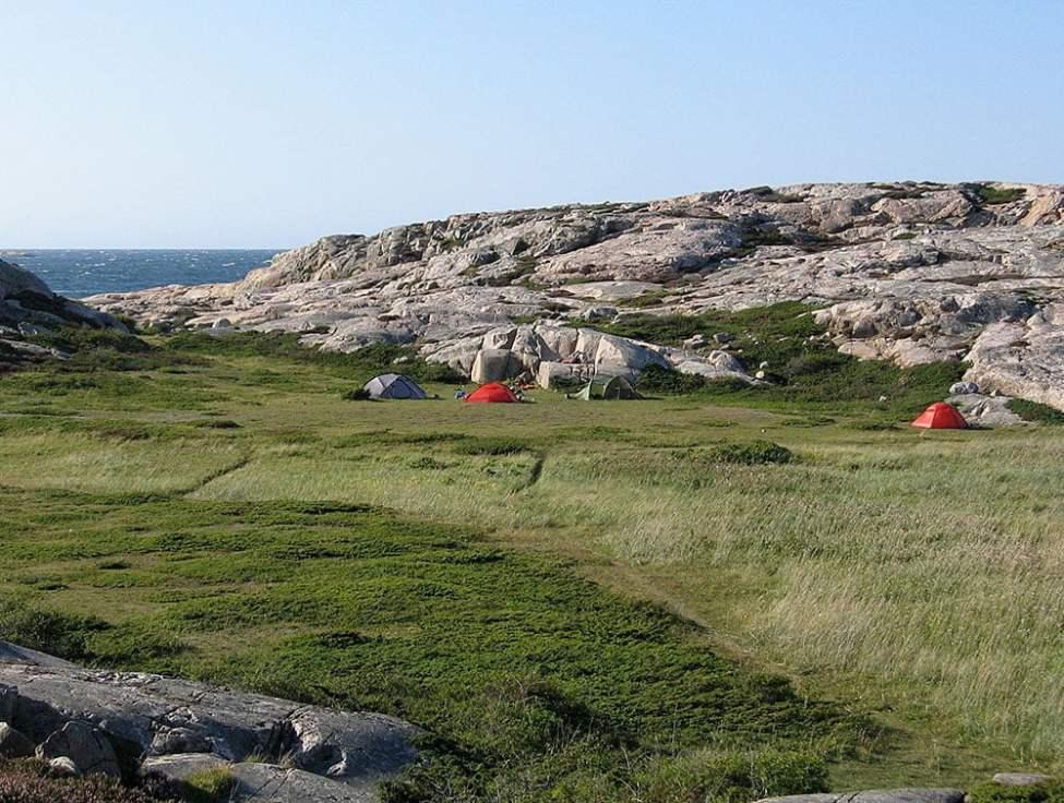 Rejält med plats för många tält