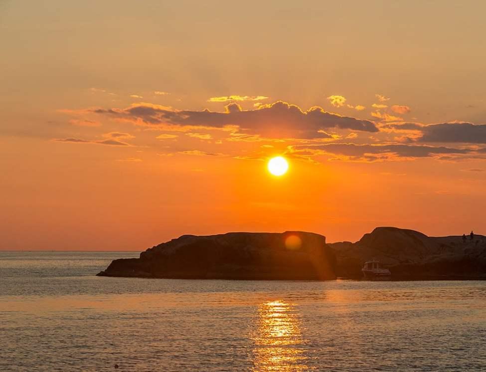 Solnedgång över Lilla Kännskär från MiniKännskär