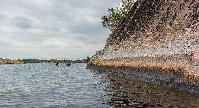 Klippig paddling